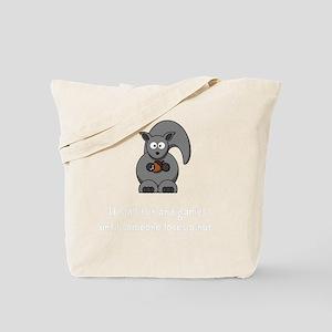 Squirrel Nut White Tote Bag