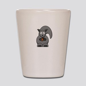 Squirrel Nut White Shot Glass