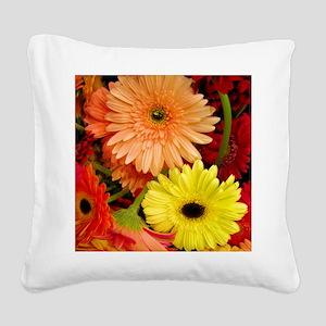 Gerbera Daisies Square Canvas Pillow