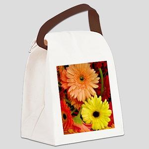 Gerbera Daisies Canvas Lunch Bag