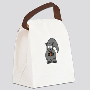 Squirrel Nut White Canvas Lunch Bag