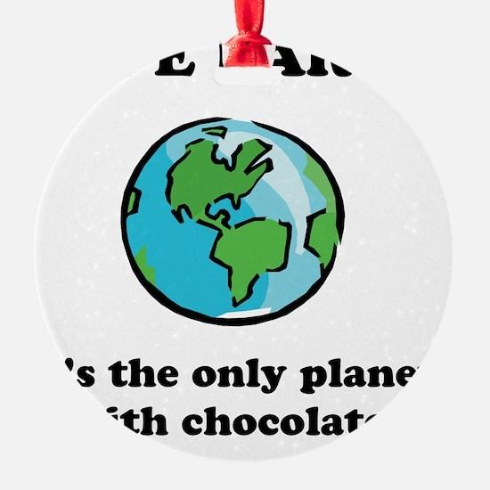 Save Earth Chocolate Black Ornament