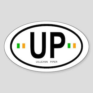 Slpc 'uilleann Piper' Oval Sticker