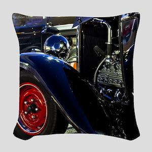 flathead v8 hotrod Woven Throw Pillow