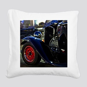 flathead v8 hotrod Square Canvas Pillow