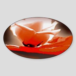 Orange Rose Sticker (Oval)