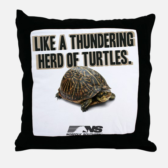 Like A Thundering Herd of Turtles NS Throw Pillow