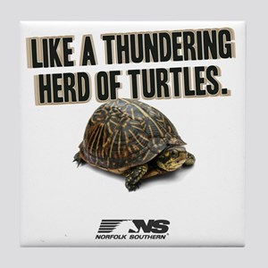 Like A Thundering Herd of Turtles NS Tile Coaster