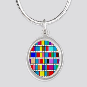 Prime Factorization Chart Silver Oval Necklace
