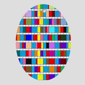 Prime Factorization Chart Oval Ornament