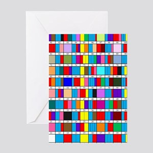 Prime Factorization Chart Greeting Card