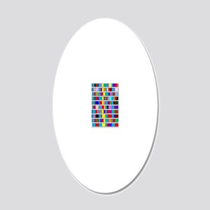 Prime Factorization Chart 20x12 Oval Wall Decal