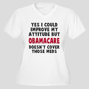 Obamacare Meds Women's Plus Size V-Neck T-Shirt