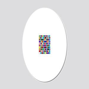 Octal Prime Factorization Ch 20x12 Oval Wall Decal