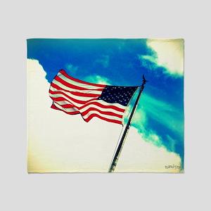God Bless America Throw Blanket