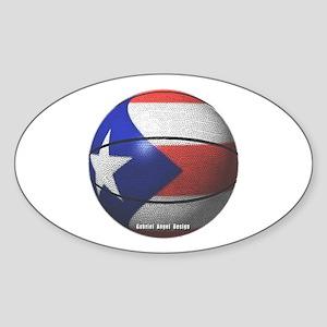 Puerto Rican Basketball Oval Sticker