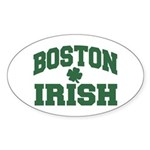 Boston Irish Oval Sticker
