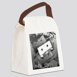 Cassette Splatter Canvas Lunch Bag