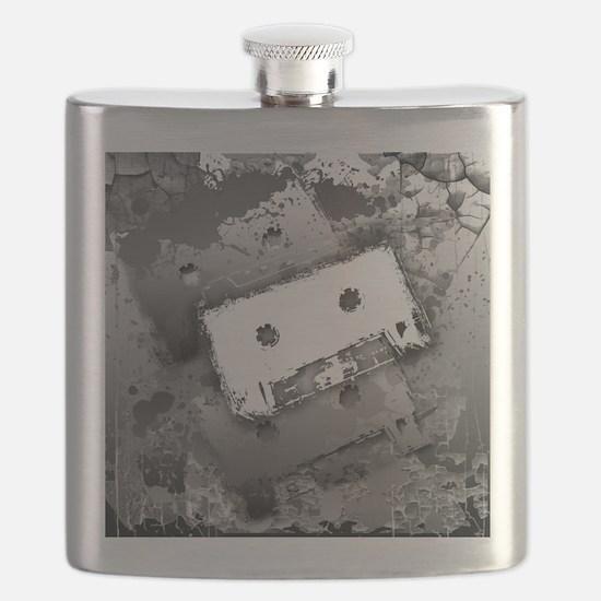 Cassette Splatter Flask
