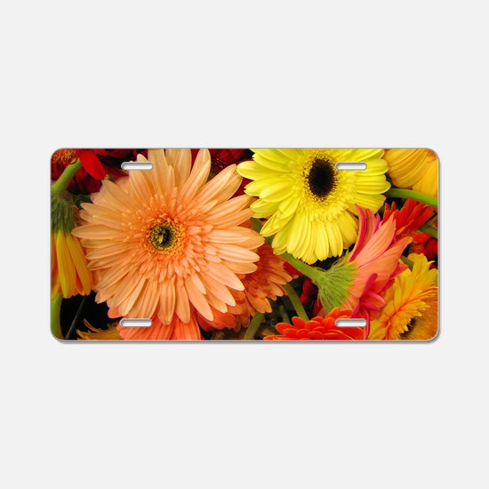 laptopskin-gerberadaisies Aluminum License Plate