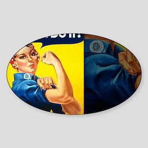 14x10 Sticker (Oval)