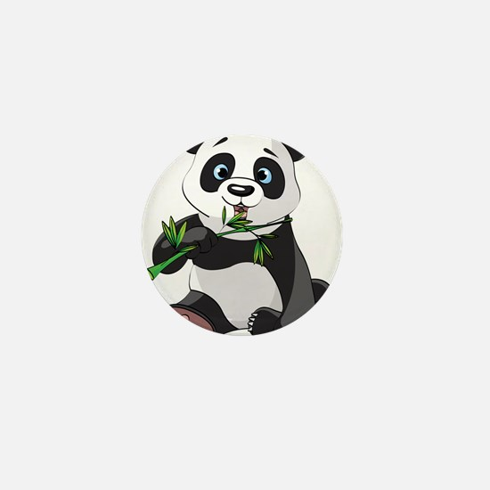 Panda Eating Bamboo-2 Mini Button