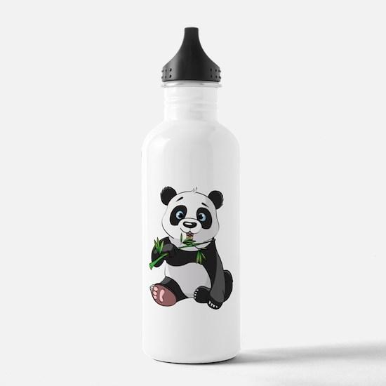Panda Eating Bamboo-2 Water Bottle