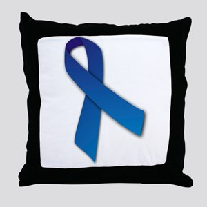 Blue Ribbon Throw Pillow