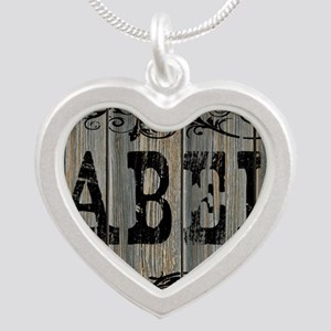 Abel, Western Themed Silver Heart Necklace