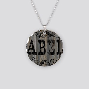 Abel, Western Themed Necklace Circle Charm