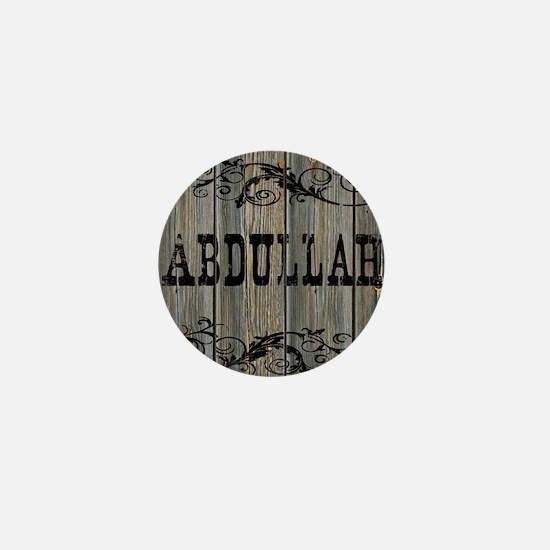 Abdullah, Western Themed Mini Button