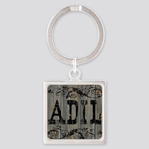 Adil, Western Themed Square Keychain