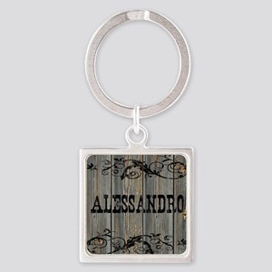Alessandro, Western Themed Square Keychain