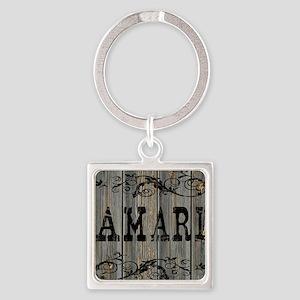 Amari, Western Themed Square Keychain