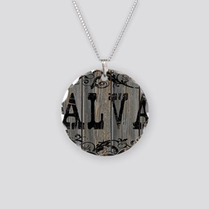 Alva, Western Themed Necklace Circle Charm