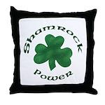Shamrock Power Throw Pillow