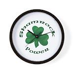 Shamrock Power Wall Clock