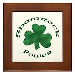 Shamrock Power Framed Tile