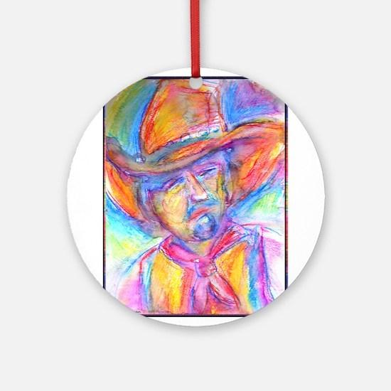 Colorful cowboy art Ornament (Round)