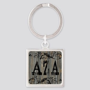Aza, Western Themed Square Keychain