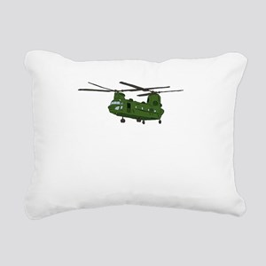 Chinook Helicopter Rectangular Canvas Pillow