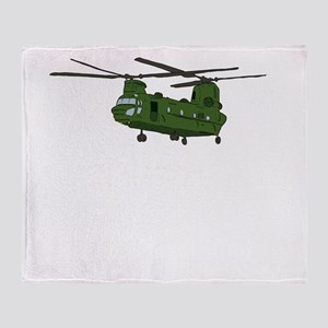 Chinook Helicopter Throw Blanket