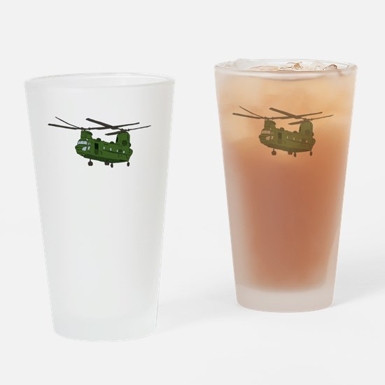 Chinook Helicopter Drinking Glass