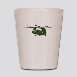 Chinook Helicopter Shot Glass