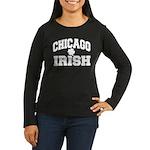 Chicago Irish Women's Long Sleeve Dark T-Shirt
