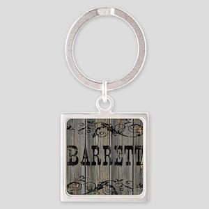 Barrett, Western Themed Square Keychain