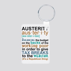 Austerity Republican Thing Aluminum Photo Keychain