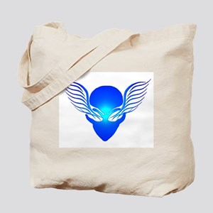 On the Wings of Aliens Blue Tote Bag