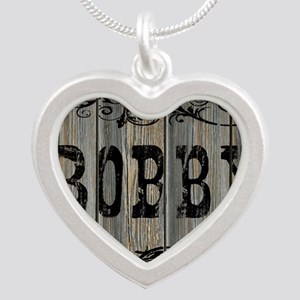 Bobby, Western Themed Silver Heart Necklace