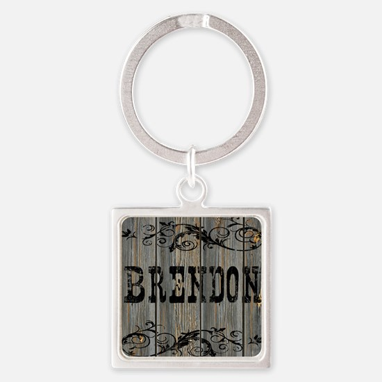 Brendon, Western Themed Square Keychain